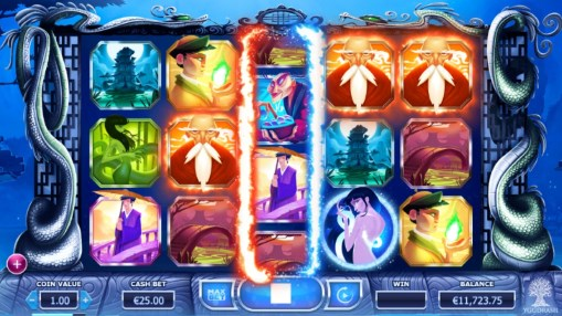 Pokie for money Legend of the White Snake Lady by Yggdrasil Gaming
