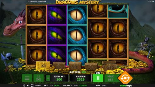 Real money mobile pokie Dragon Mystery by Stakelogic