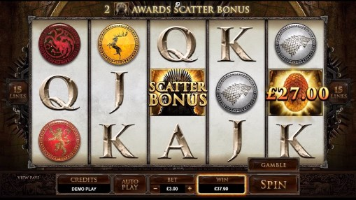 Game of Thrones pokie scatter