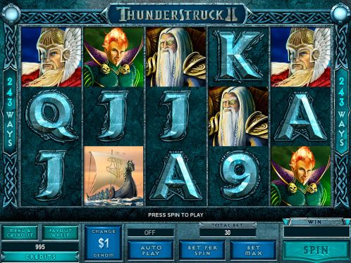 Pokie Thunderstruc II for money