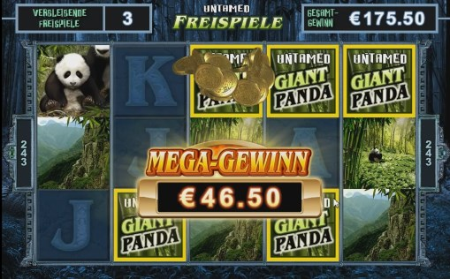 Pokie Untamed Giant Panda win